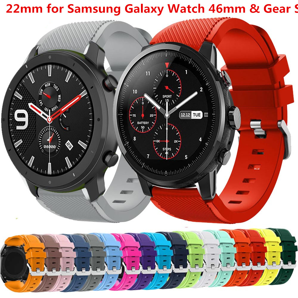 Active 2 Strap For Samsung Gear S3 Frontier Galaxy Watch 46mm Silicone Watchband 22mm Watch Band Bracelet Huawei Watch Gt 2 46mm