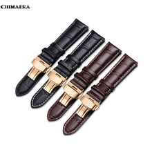 цена на CHIMAERA Genuine Leather Band Watch Strap 12-18mm 19mm 20mm 21mm 22mm 24mm Butterfly Buckle Men Woman Fashion Watch Band
