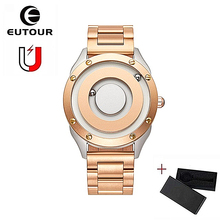EUTOUR Magnetic Ball Wrist Watch Quartz Male Waterproof Clock Fashion Couple Stainless Steel Watches dropshipping europe usa