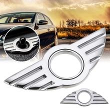 Mayitr 1 PC 3D ประตู PIN Badge Emblem เฉพาะ Rpelacement ล็อค WING สติ๊กเกอร์สำหรับ BMW MINI COOPER/S/ONE/Roadster/Clubman/Coupe