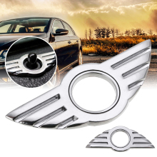 Mayitr 1pc 3D Door Pin Badge Emblem Dedicated Rpelacement Lock Wing Stickers for BMW MINI Cooper/S/ONE/Roadster/Clubman/Coupe