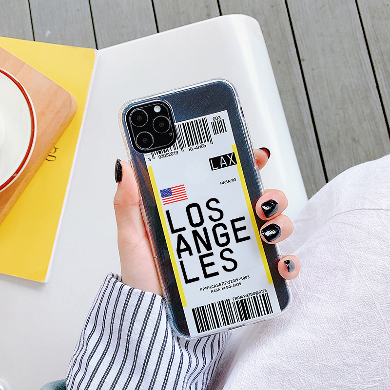 Hb1c0bd7ed5af494a8396785fc1916c64a - Luxury New York Seoul London Label Bar code cover For iPhone 6 7 8 plus 11 Pro Xs MAX XR X Clear tpu fashion National flag case