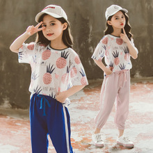 Girls Summer Outfits Short Sleeve T Shirt & Pants 2pcs Sets Children Clothing 8 10 12 Year Baby Kids Girl Clothes Sports Suit summer baby toddler girl clothes t shirt skirts kids clothes sports suit for girls clothes 2pcs set children clothing 3 7 year