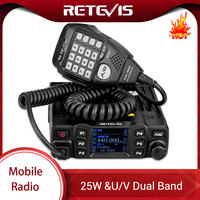 vhf uhf RETEVIS RT95 Mobile Radio רכב מכשיר קשר VHF UHF רכב Ham Radio אמאדור TFT LCD Display 25W דו כיוונית רכב רדיו המשדר + MIC (1)