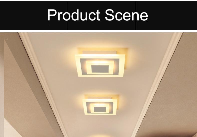 Hb1c0deec77444c56867ca48ae4a522a52 Modern ceiling lights 12w for hallway balcony corridor Coffe white light lamps bedroom luminaria teto acrylic lamparas de techo