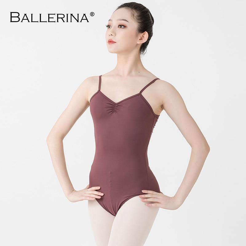 Ballerina Ballet Leotard Women Aerialist Practice Dance Costume Adjust The Shoulder Straps Sling Gymnastics Leotard Adulto 5092