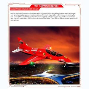 Image 5 - HSD RC 1.6M Jet 105MM EDF süper Viper V4 12S 160A uçak PNP Model hidrolik TH06108
