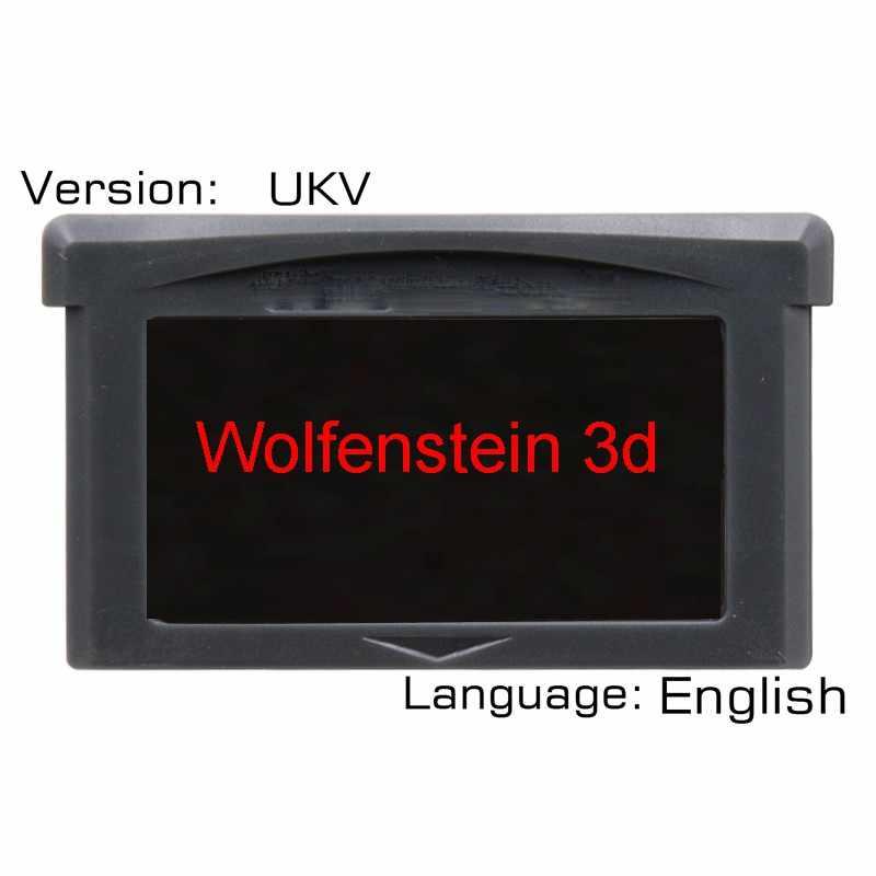 Woiffenstein 3D 32-битная видеоигра картридж консоль карта UKV версия Язык Английский
