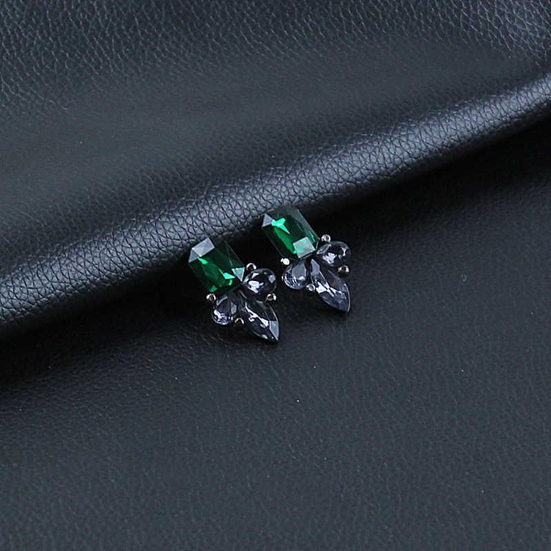 카터 리사 절묘한 큰 크리스탈 Pendientes Duzzling 라인 석 꽃 스터드 귀걸이 여성 패션 쥬얼리 파티 선물
