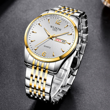 Quartz Watches Men Fashion Sports Full Stainless Steel Male Top Brand Luxury Business Waterproof Wrist