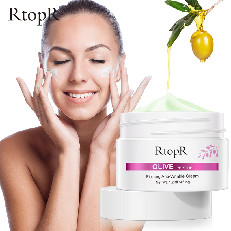 RTOPR Olive Peptide Firming Anti-Wrinkle Cream Reduce Face Fine Lines Tighten Pores Whitening Oil Control Acne Hydrating Skin
