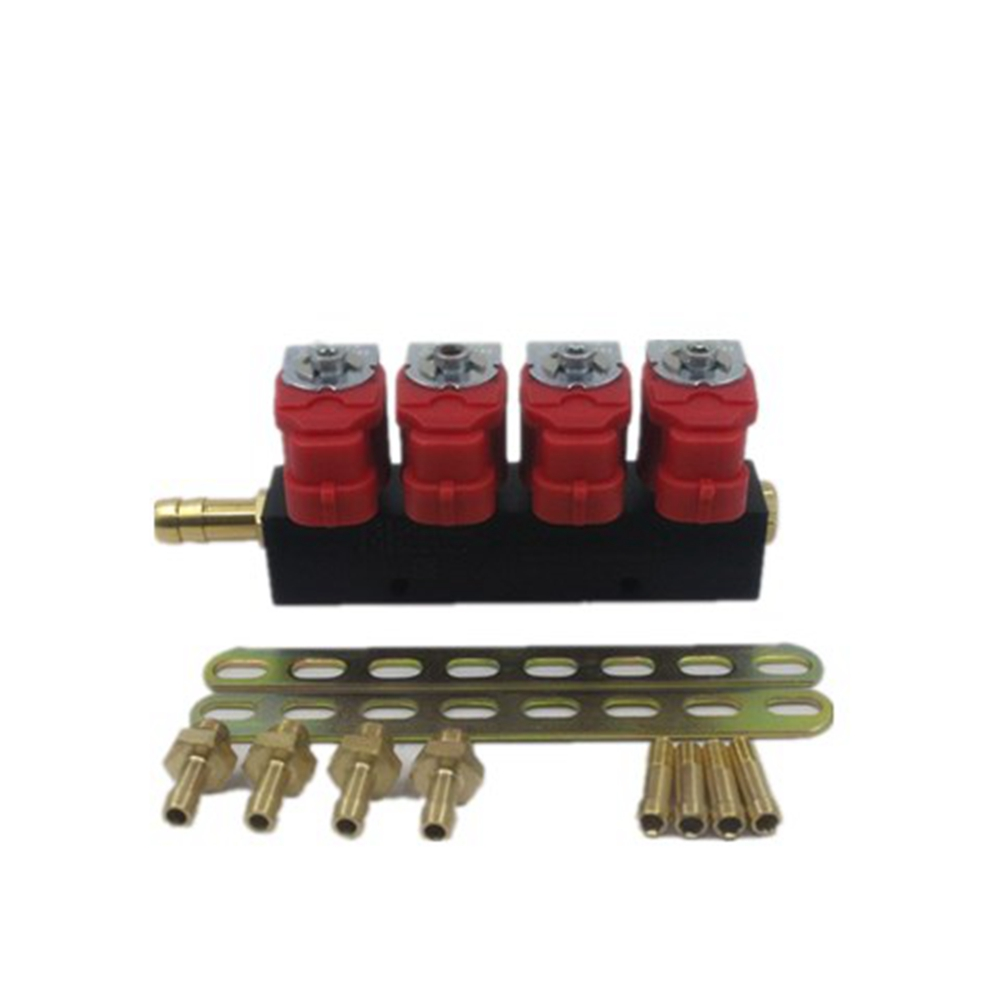LPG CNG For Valtek Injection Rail For 4 Cylinder Multipoint Sequential Injection System 67R 110R ECE Red