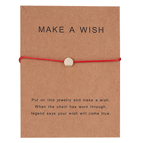 Простой крест красная струна браслет Регулируемая плетение счастливая Веревка Браслеты для женщин мужчин детей подарок ювелирные изделия ручной работы - Окраска металла: BR18Y0393-2