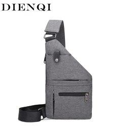 DIANQI противокражная мужская сумка через плечо, мужская сумка-слинг через плечо, тактическая сумка-мессенджер, Маленькая мужская сумка для уп...