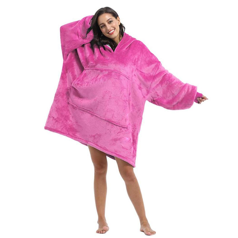 Blanket With Sleeves Women Oversized Hoodie Fleece Woemen Hoodies Sweatshirts Giant TV Blanket Winter Warm Robe Casaco Feminino