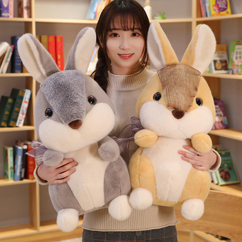 Sexy Cute Simulation Rabbit Bunny Toys Stuffed Lovely Lifelike Hare Animal Plush Doll For Kids Children Soft Pillow Nice Gift fancytrader large plush bunny doll lovely soft stuffed cartoon rabbit kids toys gifts pink purple for chilren 100cm