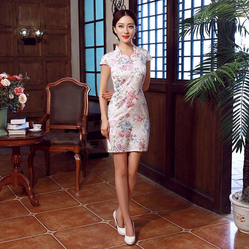 Special Offer Cheongsam Summer Wear Fashion Slimming Dress Daily Life Slim Fit Elegant Short Cheongsam