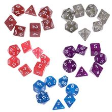 7pcs/Set Sided Dice D4 D8 D20 Game-Accessories Table-Board D12 D10 D6 for Adult Kids