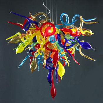 Modern Pendant Ceiling Lamps Murano Glass Lights Kitchen Fixture LED Colored Chandelier