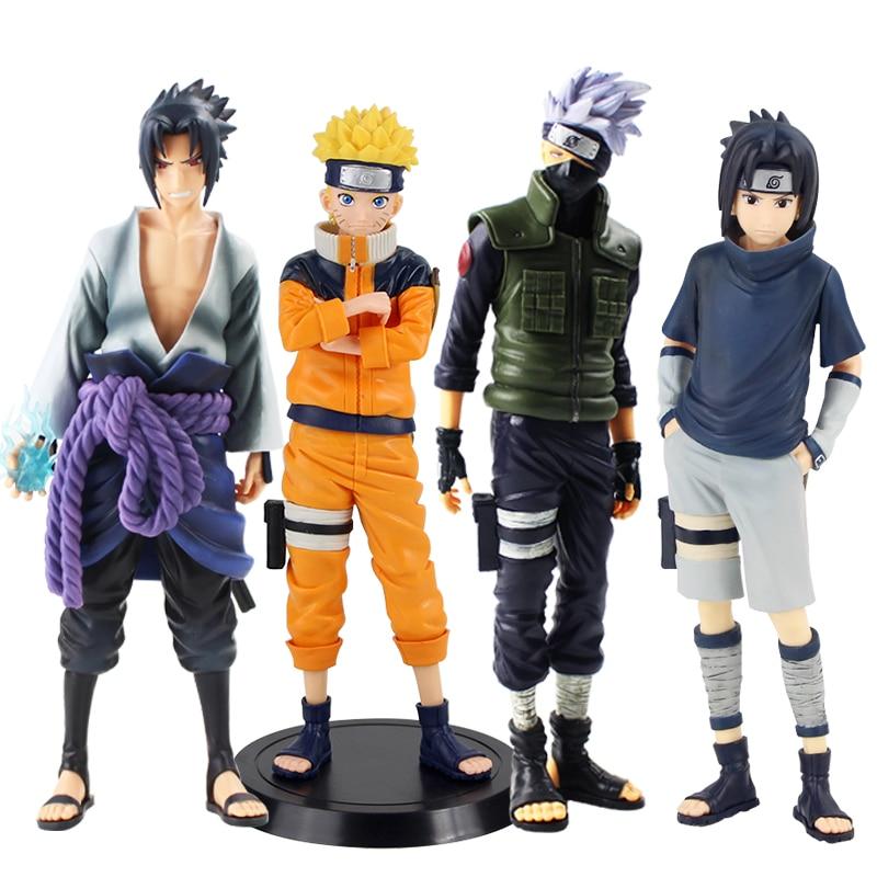 Anime 1/7 Scale Painted Grandista Relações Shinobi Naruto Uzumaki Naruto/Uchiha Sasuke/Hatake Kakashi Ação PVC Figura Toy