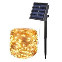 Luminária led 100 200, para áreas externas, à prova d' água, para jardim, para decoração externa, sensor solar guirlant