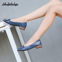 Llxf catwalk/пикантные туфли на высоком толстом каблуке 2 см