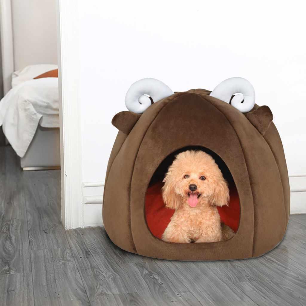 Transer hondenmand chats couverture nouveau pliable chien chiots chat maison chenil nid lit avec coussinet animal voyage lit chat maison pour chat P30