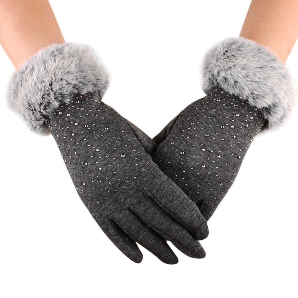 Sleeper #P501 Fashion Womens Winter Outdoor Sport Warm Gloves Luvas перчатки Full Finger Solid Color Softs Daily Wear 3 Color