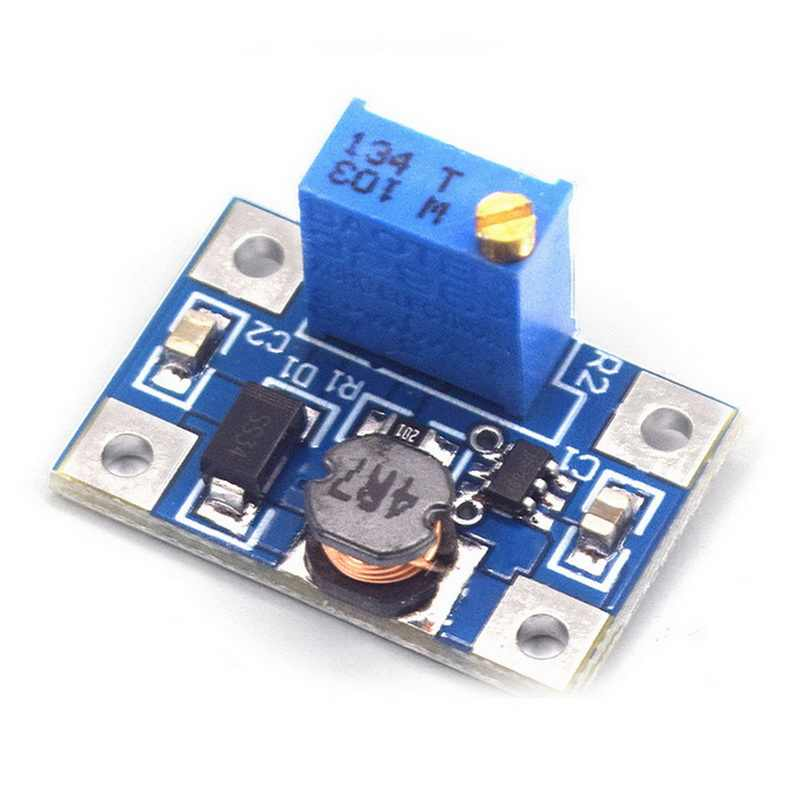DC-DC SX1308 Step-UP Adjustable Power Modul DC DC Step Up Boost Converter Menyesuaikan Power Supply 2-24V untuk 2-28V 2A Diy Kit