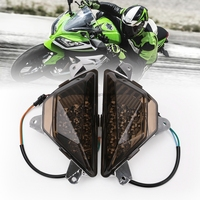 Motorcycle Accessories Front Turn Signals Blinker Indicator Led Light Lamp Front Turn Signals For Kawasaki NINJA250/300 2013 16 -