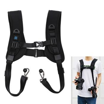 Camera Quick Release Double Shoulder Camera Strap Soft Harness Belt Photo Studio Accessories for Keeping 2 Cameras SLR DSLR 1