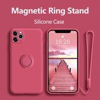 Líquido de silicona teléfono caso para Samsung Galaxy nota A70 A10 A20 20 10 S8 S9 S10 S10E 9 A50 A30 A50S A30S Ultra Plus