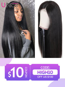 Unice Wigs Hair 100%Human-Hair-Wigs Straight Full-Lace Brazilian 14-26inch Remy Natural-Color