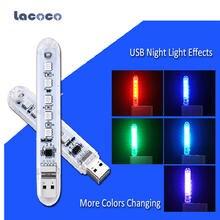 Светодиодный ночной мини светильник для чтения с usb 5 светодиодов