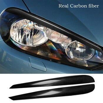 Real Carbon Fiber Headlight Eyelid Eyebtrow Cover For VW Golf 6 VI Mk6 2009-2012