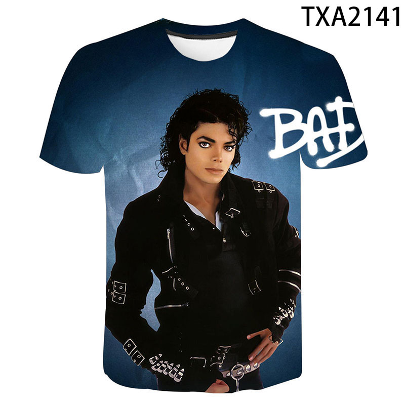 2020 Michael Jackson 3D Print T Shirt Men Women Children Fashion Hip Hop T-shirt Streetwear Harajuku Tee Shirts Homme Cool Tops