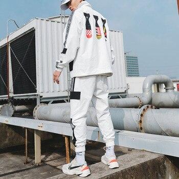 Fashion Sportswear Winter Men Set Sweatsuits New 2019tracksuit Casual Jacket Joggers Suit Sets Sportwear Hommes Coat JJ60NT