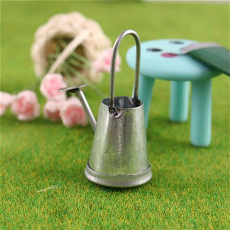 1/12 Metal Watering Can Garden Dollhouse Miniature Decoration For Children Kids Dolls Acces Miniature Furniture