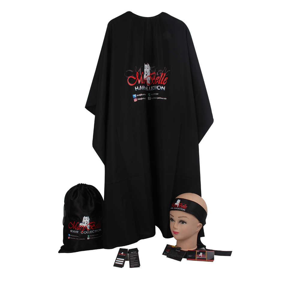 Benutzerdefinierte Reines Haar Bundle Verpackung Satin Taschen/Hängen paperTags/wrap Aufkleber/danke karte/Bonnets/ wrap band/Kissen box/salon cape