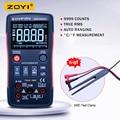ZOYI ZT-X Цифровой мультиметр; True RMS Автоматический диапазон переменного тока постоянного тока Ампер Ом метр; конденсатор частота диода NCV тест +...