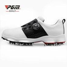 Новая PGM обувь для гольфа мужская Водонепроницаемая дышащая противоскользящая обувь шнурки спортивная обувь Шипованная обувь