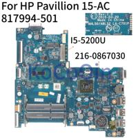 KoCoQin Laptop motherboard For HP Pavillion 15 AC 250 G4 I5 5200U Mainboard AHL50/ABL52 LA C701P 817994 001 817994 501 SR23Y|Laptop Motherboard| |  -