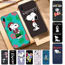 TOPLBPCS Peanuts Charlie Brown beagle dog Cartoon Soft Phone Cover for Vivo Y91C 31 53 19 11 17 81 55 66 69 71 V11 i 9 7 67(China)