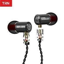 Trn m10 1dd 1ba híbrido metal no ouvido fone de alta fidelidade dj monitor correndo esporte fone de ouvido fone de ouvido fone de ouvido trn v80 zs10 pro vx zst st1