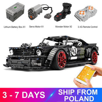 New App RC Technic Car Ford Mustang Hoonicorn With 5292 Motor Compatible MOC-22970  Building Block Bricks Educational Toys Gifts