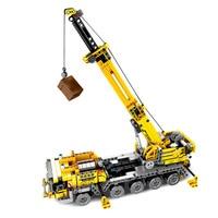 City Engineering Technic Machine Car Building Blocks City Construction Crane Model Compatible Technic Bricks Toy Children Gifts