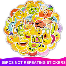 50pcs/Pack Smile Face Emoji Stickers Waterproof Skateboard Suitcase Phone Laptop Luggage Funny Stickers Reward Kids Classic Toy цена 2017