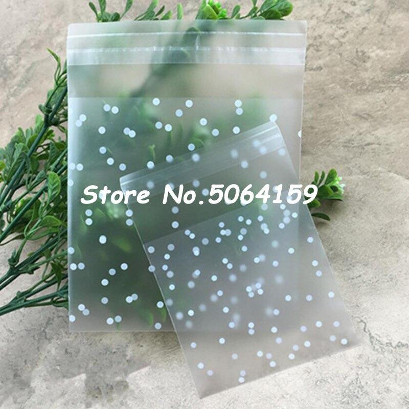100 DIY Self Seal Adhesive Polka Dots Plastic Cellophane Cookies Candy Bags Gift