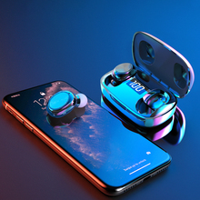 TWS Wireless Bluetooth Earphone 5.0 sport Earphones 6D Stereo HiFi Sport Music Waterproof LED Display earbuds Headset With Mic khh wireless csr bluetooth v4 1 earphone magnetic hifi stereo super bass earbuds running sport with mic for ios android