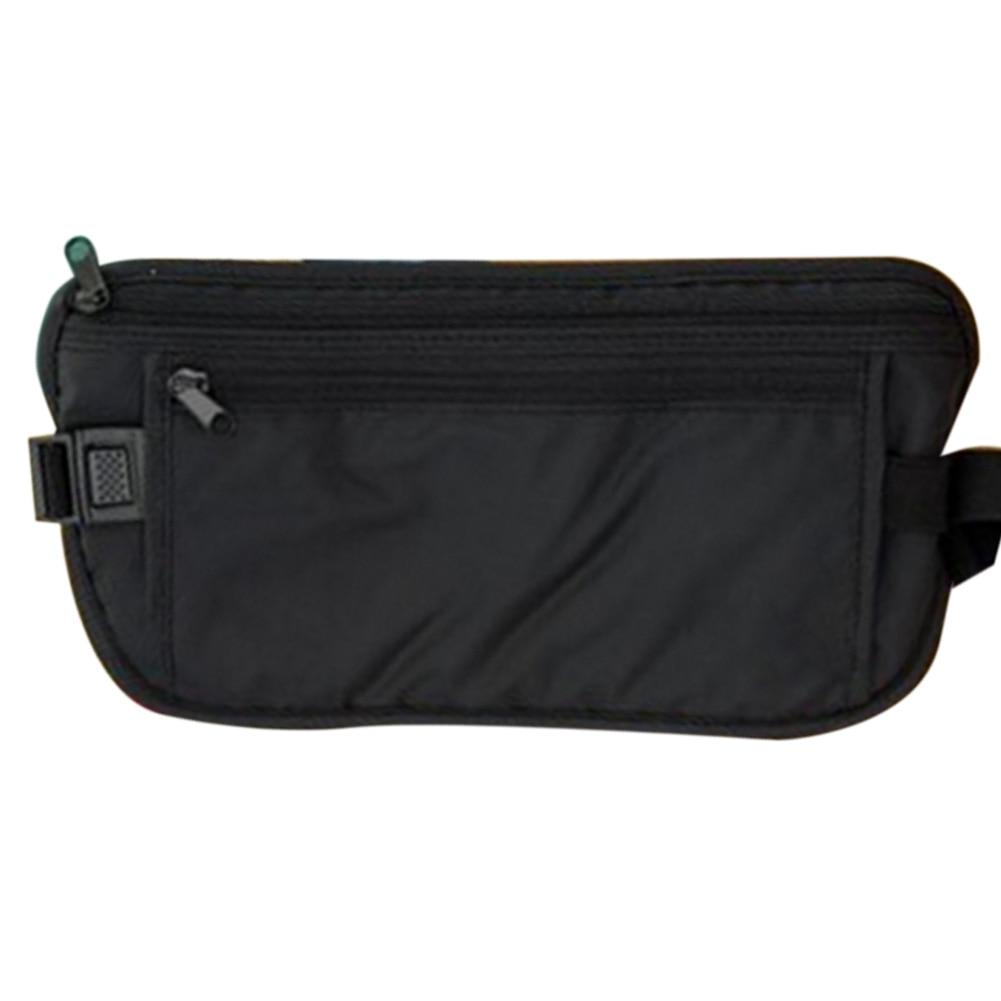 Women Zipper Closure Portable Waterproof Fashion Nylon Sport Casual Daily Travel Anti Theft Waist Bag